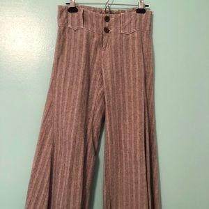 Free people wide leg tweed pants